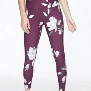 New Athleta Floral Elation XS Tights 7/8 Yoga UPF